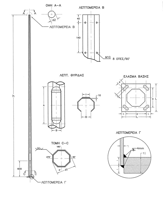blueprint of oktagon mast